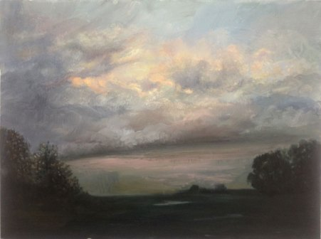 Summer Storm, oil on board