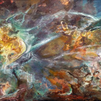 Jill Nichols' Painting 'Phi', as seen at the Vatican Observatory Museum