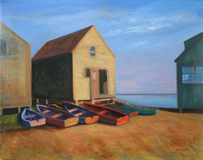Monhegan Boats, oil on canvas