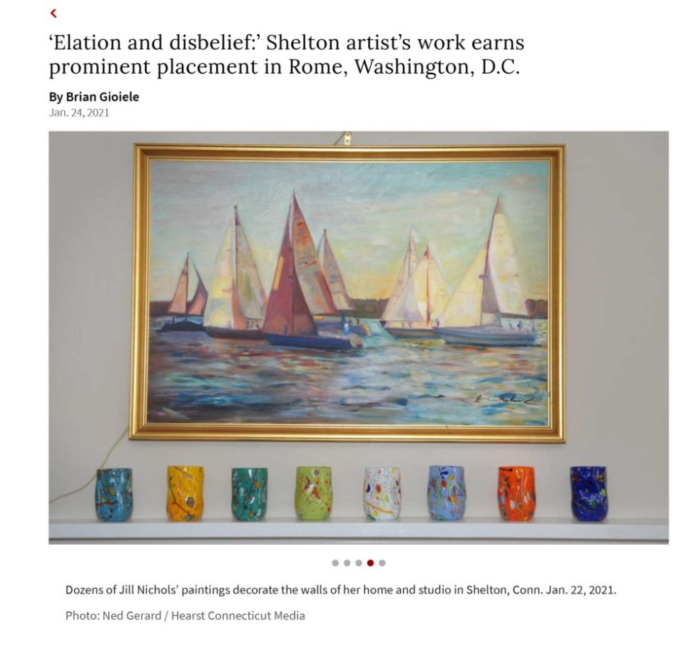 Jill Nichols Paintings featured in Hearst Media 1-21