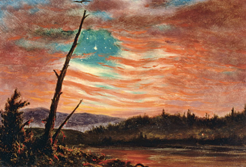 Our Banner in the Sky, Frederic Edwin Church, 1861