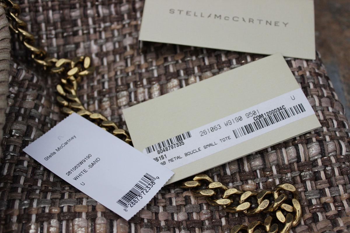 Stella McCartney Metallic Boucle Tweed Falabella Small Tote