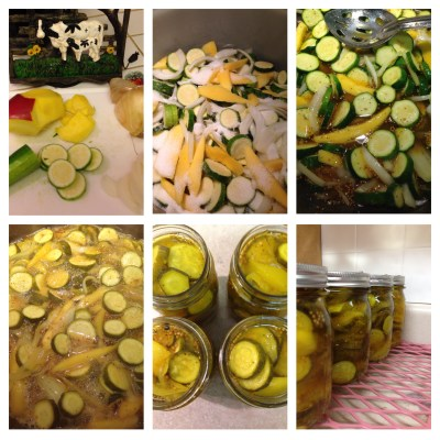 Zucchini and Mango Bread and Butter Pickles