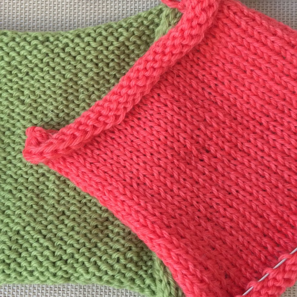 St st or Stockinette stitch and Rev St st or Reverse Stockinette stitch