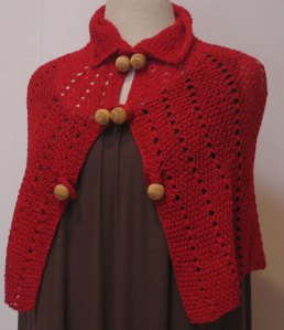 Red Carnal (Vice Yarn) Windsor Capelette