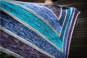 Perfectly Colorful Log Cabin Shawl