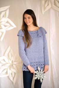 Jill in Love of Knitting, Frosted Glass Pullover
