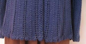 Knitting Story: Love of Knitting cardigan, Bottom Trim Body