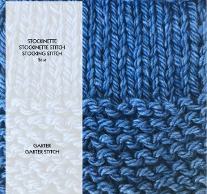 Knit Garter and Stockinette