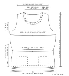 Schematics: Obstacles in Knitting, Pullover Body
