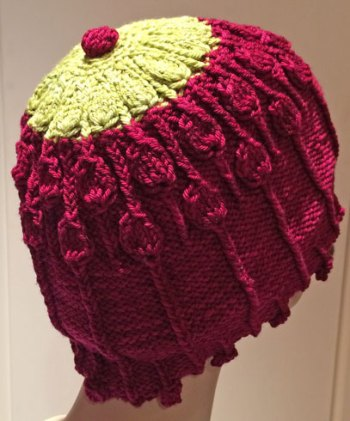 Lisse Hat Pattern: Blocked in Carpet Bag and Civility