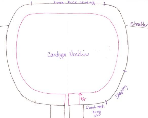 Finishing Adjustments: Cardigan Neckline