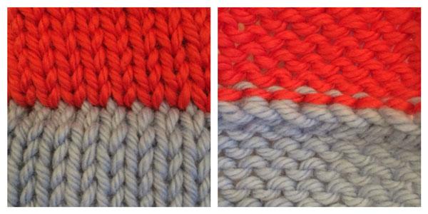 3-needle joins: Regular 3-needle, both sides