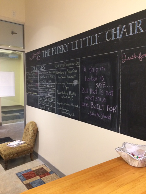 Cynthia Bleskachek: The Funky Little Chair Blackboard