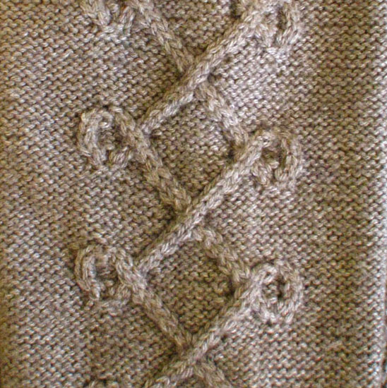Searches: Cable on a reverse stockinette background