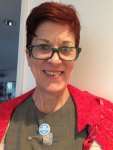 Be Loud: Wearing my Be Loud Button and a Windsor Capelette!