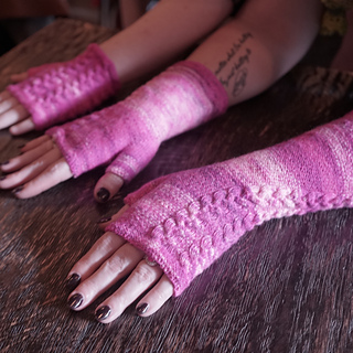 Coffee With fingerless mitts