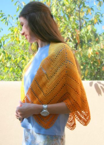 Solar Crochet Shawl from A Garden of Shawls by Karen Whooley