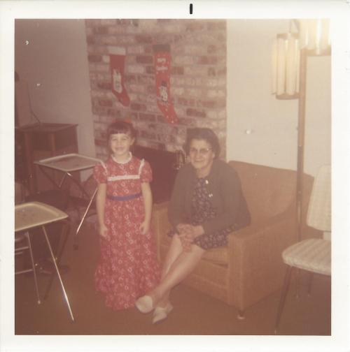 Karen Whooley: Karen with her Nonna