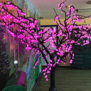 Just Enough: Pink Tree at Mini Golf