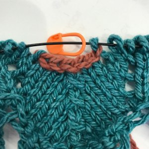 Bind off within row: 6) all sts bound off