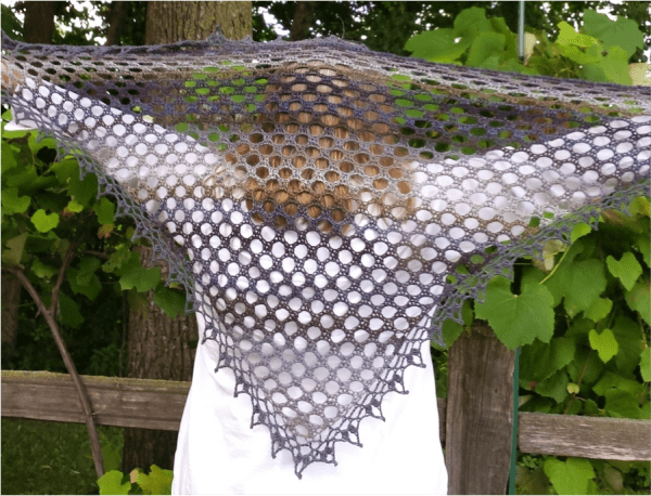 A Simple Homestead Crochet Shawl