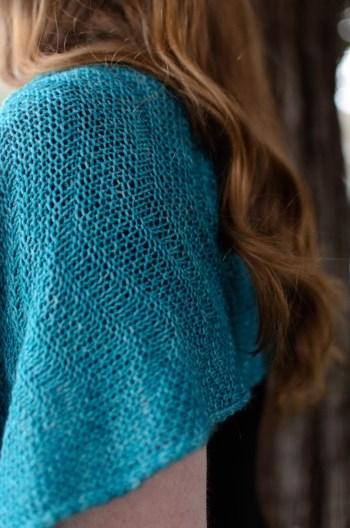 Savoie Shawl detail of drape