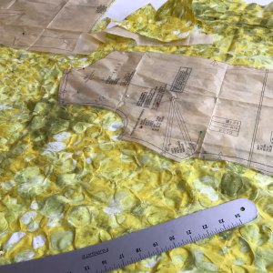 First Sewing Project: cutting assisted by tools