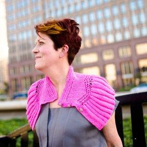Refreshing Ashland: Jill wearing the shawlette n Hyacinth