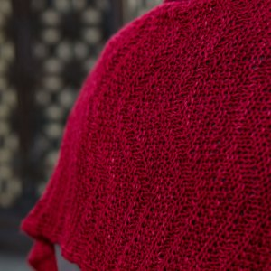 2019 GAL: Savoie Shawl a perfect marriage of fabric and yarn!