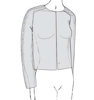 Sakai Cardigan Drawing