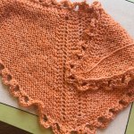 Recap: Dolly shawl unblocked. Done in Dreamy from Anzula