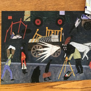 Jigsaw puzzle: The Photographer, by Jacob Lawrence
