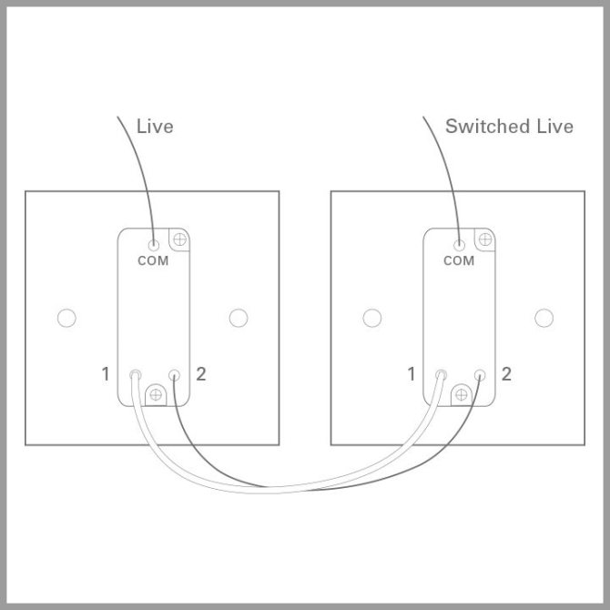 gang switch wiring diagram for two  schematic wiring