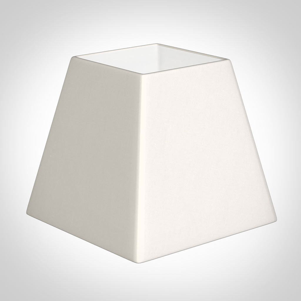 20cm Sloped Square Shade Cream Killowen Linen Lamp Shades