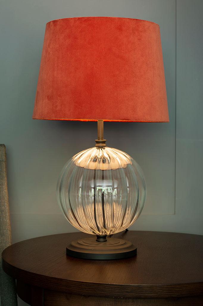 30cm Medium French Drum Shade Burnt Orange Velvet Lampshades Jim Lawrence