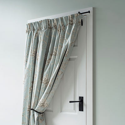 ironwork curtain rods portieres
