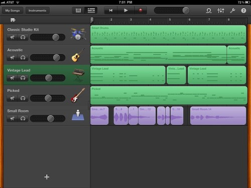 Garageband-interface