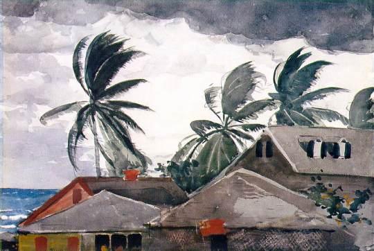 Windslow Homer Hurricane Watercolor