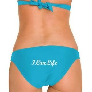 ILiveLife bikini bottoms caribbean blue
