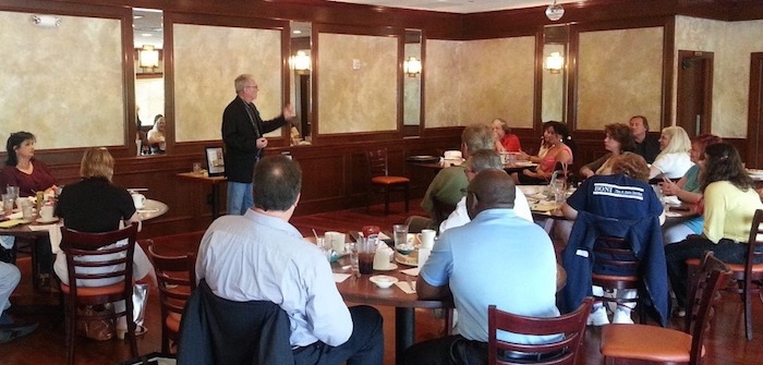 jim donovan speaking at business event