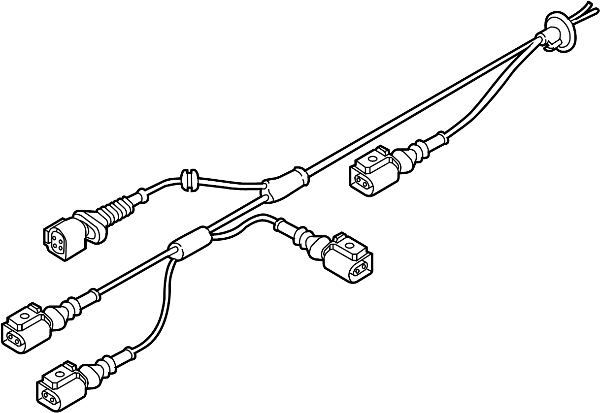 Audi Wire Harness With Rpm Sensor And