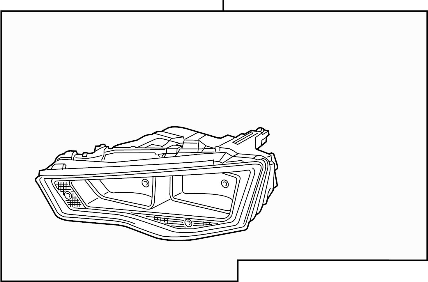 Audi Allroad Headlamp Assy Headlight Assembly