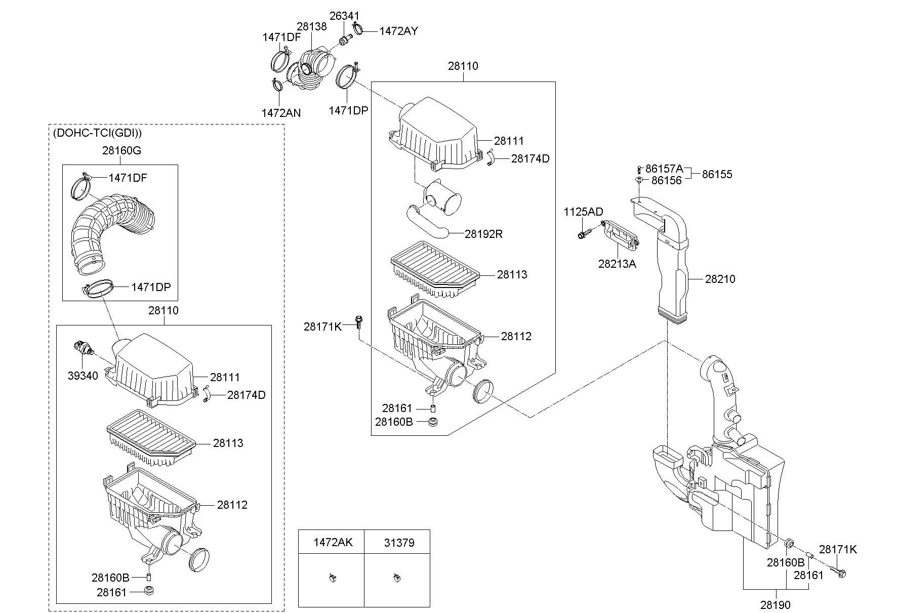 Hyundai Veloster Air Intake System Cc