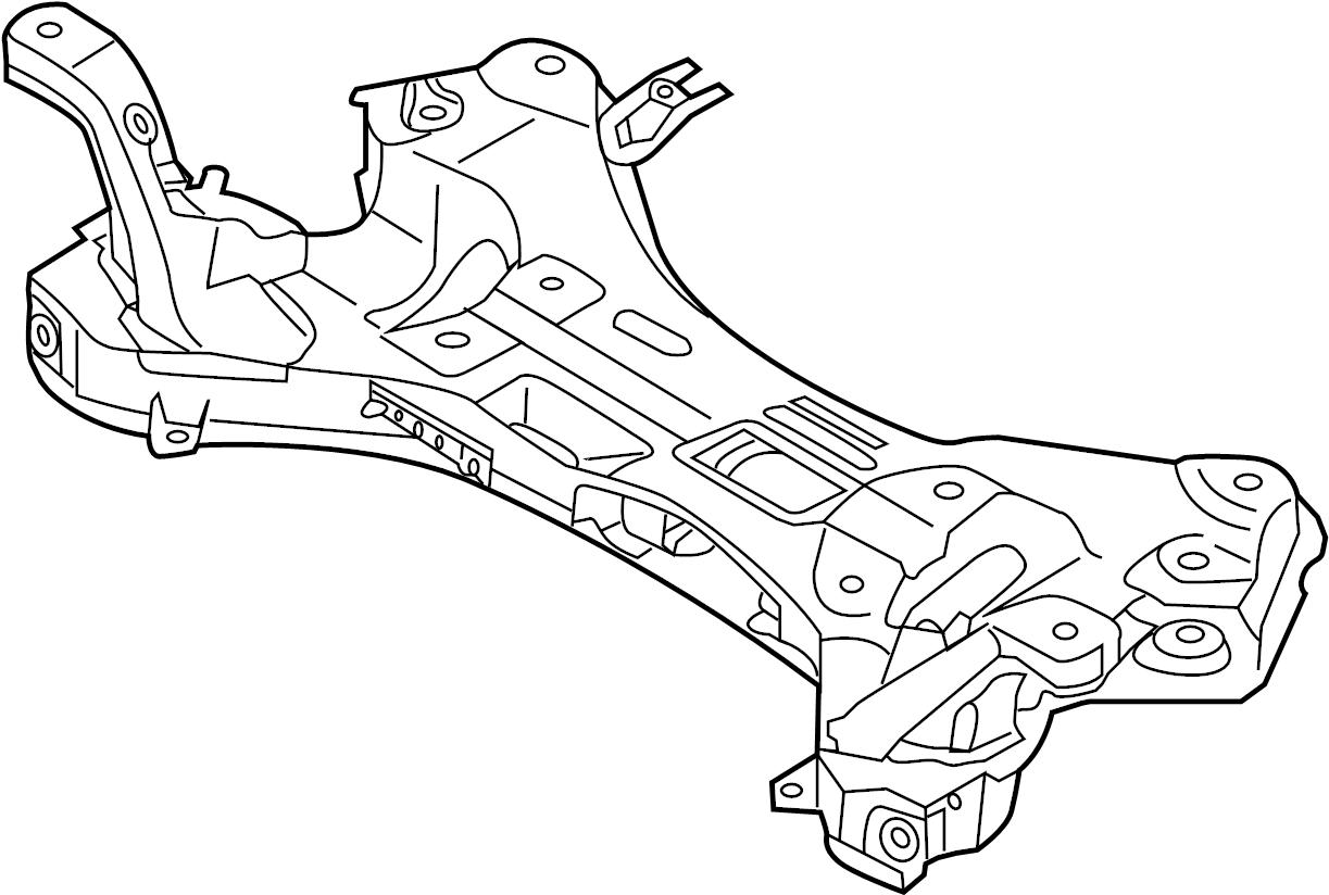 Hyundai Elantra Crossmember Engine Cradle Susp