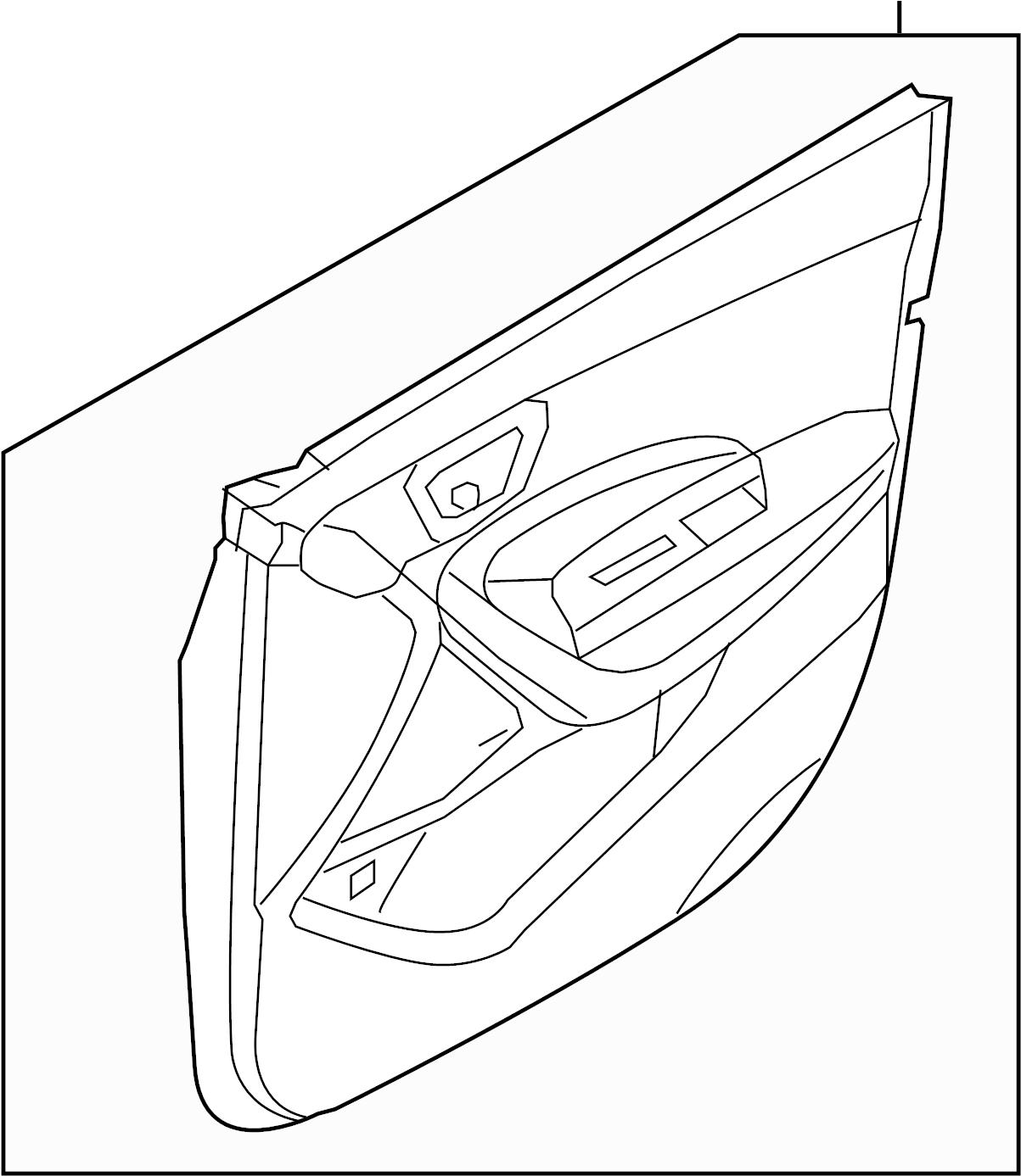 Hyundai Santa Fe Door Interior Trim Panel Door Trim