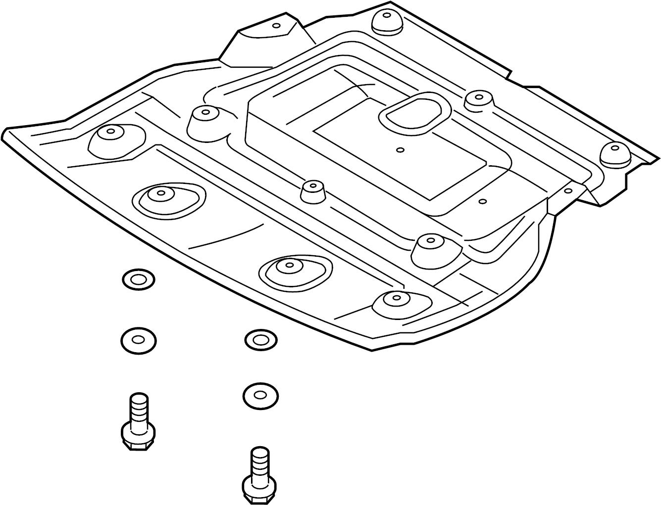 Hyundai Front Shield Radiator Support Splash Shield