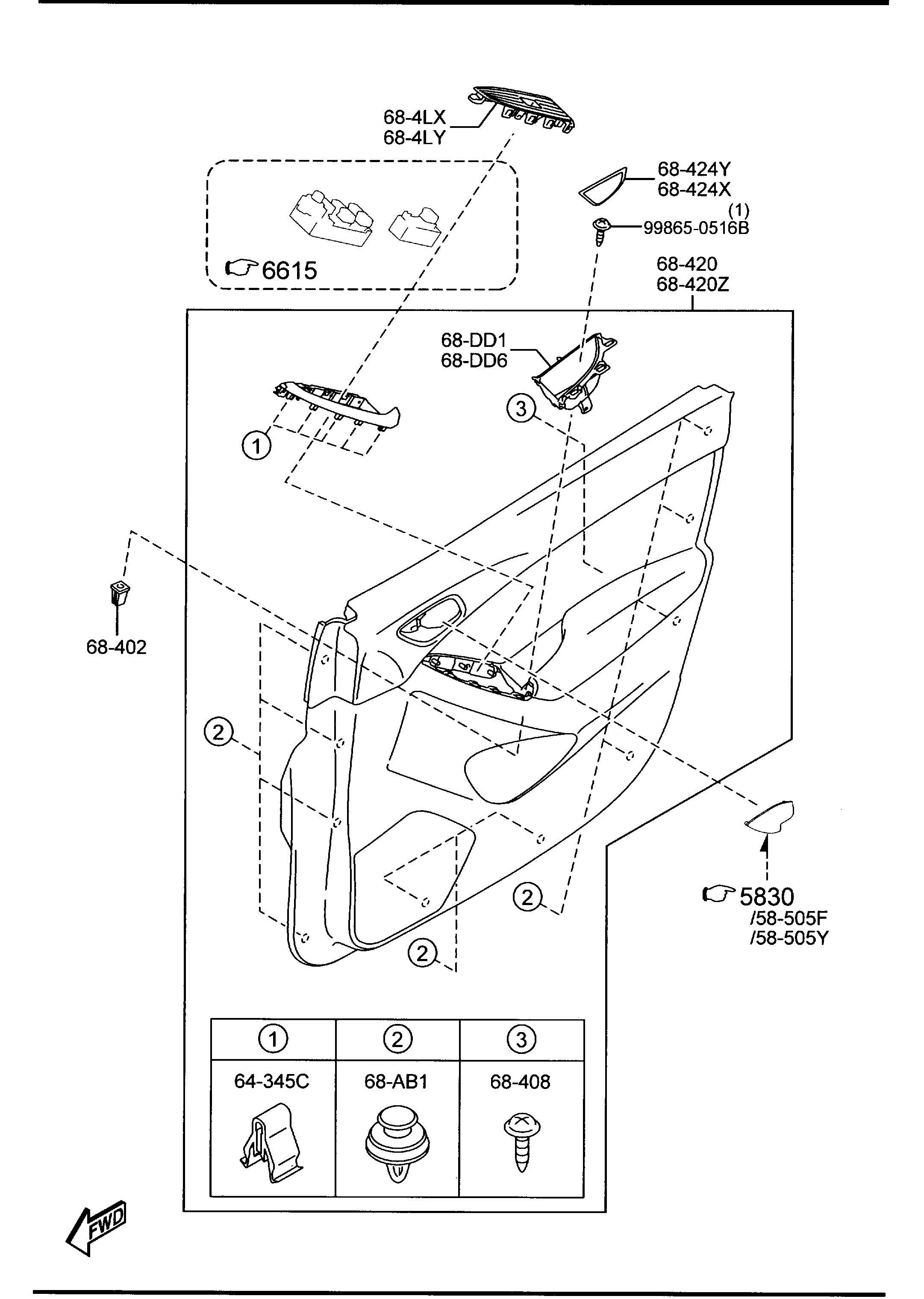 Mazda Cx 5 Fastener Panelfastener