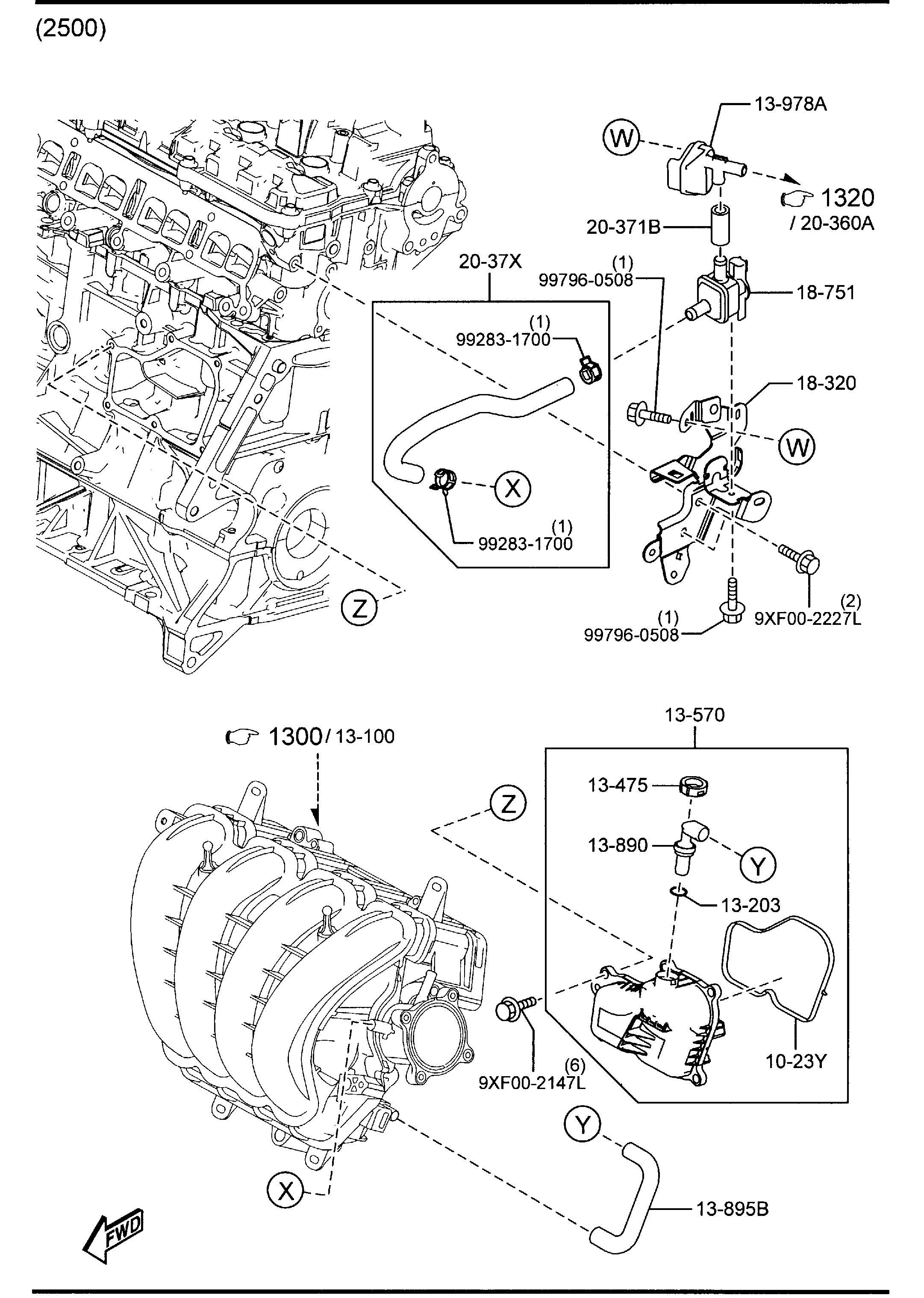 Mazda Cx 5 Valve P C V Pcv Compartment