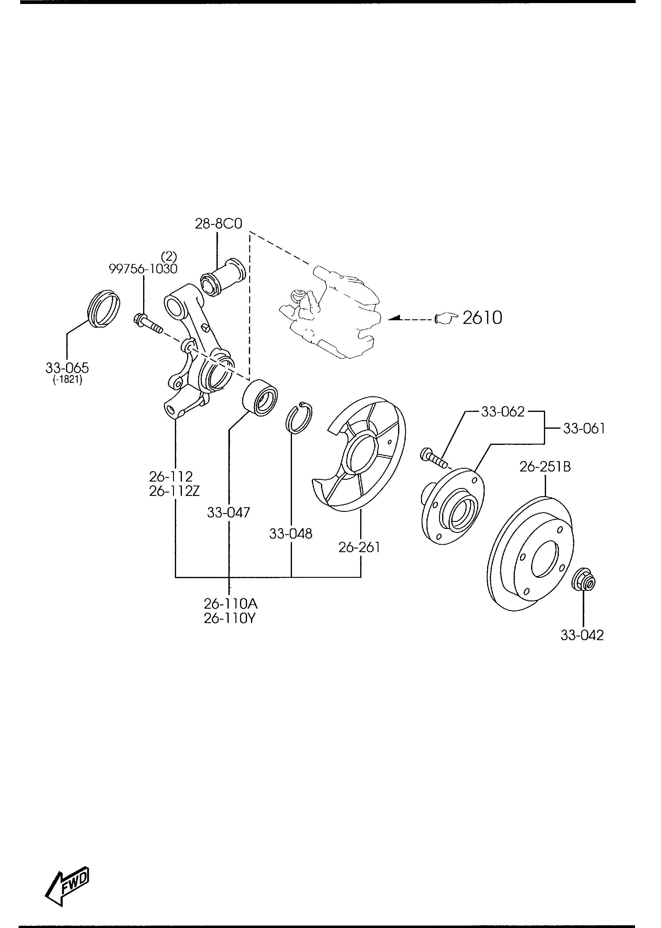 Mazda Miata Hub Wheel W Studs Wstuds